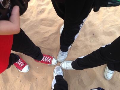in the desert safari with friends