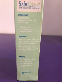 how to use: apply on wet face, lather and massage gently and wash off. It can be used once or twice a day.